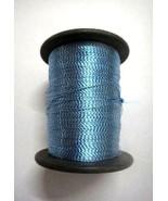 70 gm Turquoise Art Silk Thread Twisted Silver Lurex Neem Zari Crochet E... - $6.92