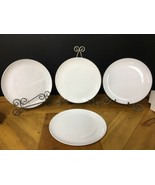 """Vintage CENTURA Corning Ware 10""""Dinner Plates White Coupe Heavy Weight S... - $18.69"""