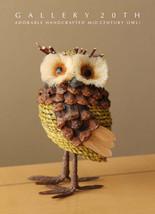 WOW! HANDCRAFTED VTG MID CENTURY MODERN OWL SCULPTURE! 60'S WISDOM LUCK - $255.00