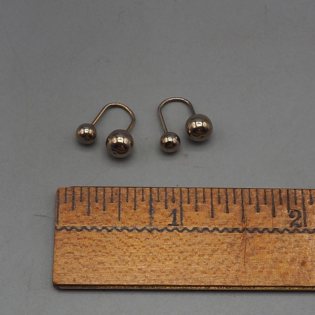 Vintage Silvertone Earrings 1980's 1990's