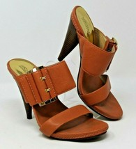 Michael Kors Size 9 M Coral Pink Leather Heels w/ Buckle Strap - $37.99