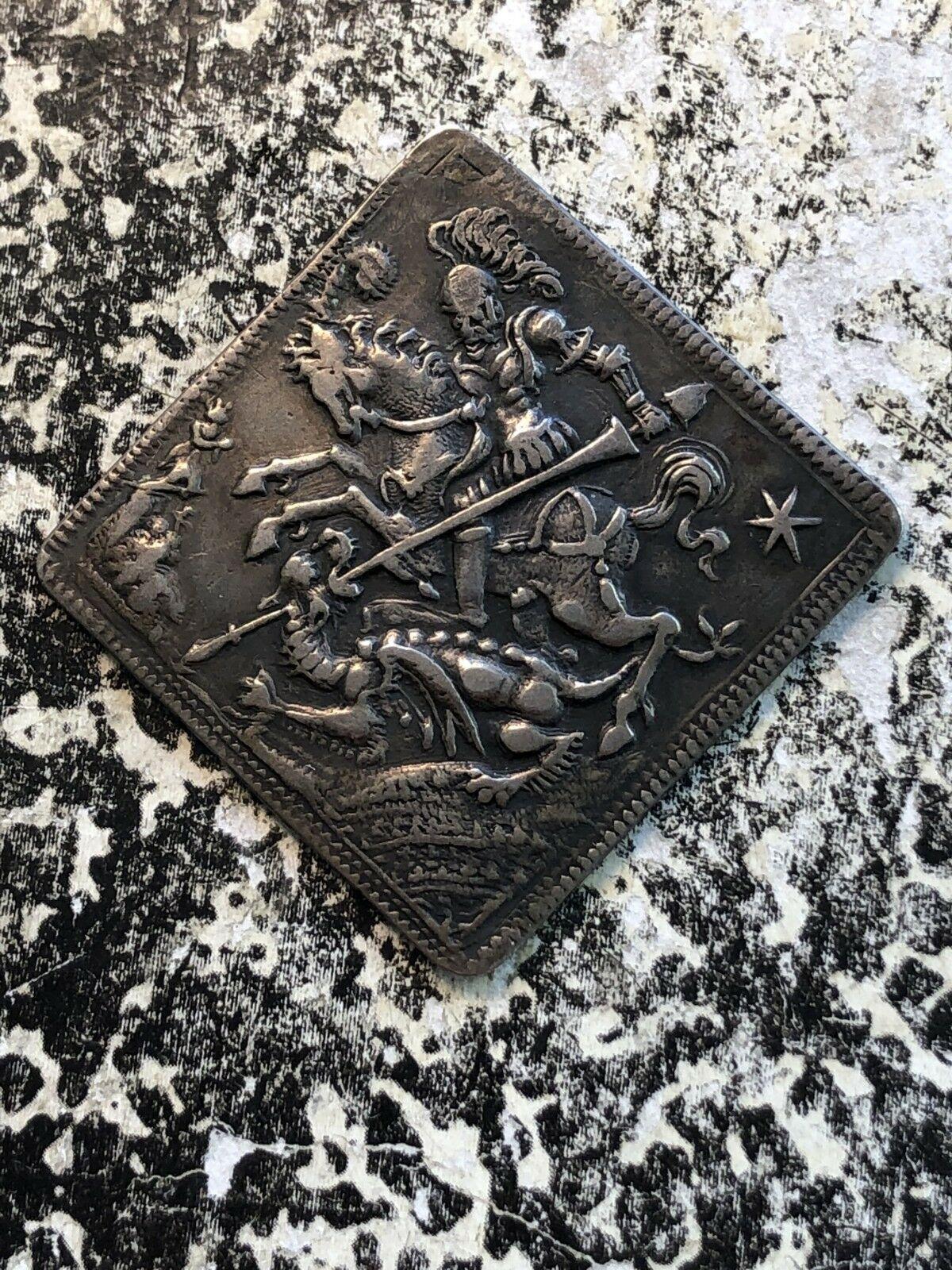 (C.1700) Germania Ratisbona St.George Klippe Lotto #Jm643 Argento! Molto Raro
