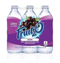 Fruit2O Zero Calorie Flavored Water, Grape, 6 Count Pack of 4