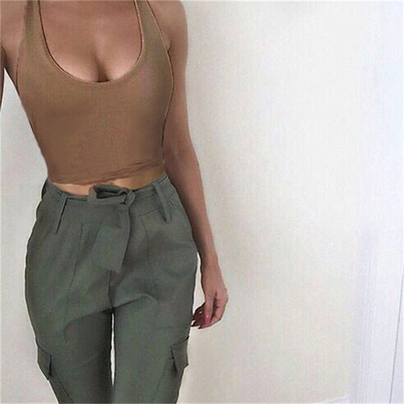 Women Summer Shirt Solid Crop Top Sexy Ladies Blouses Halter Streetwear Sexy Bas