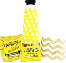 Bath & Body Works Sparkling Limoncello Hand Cream PocketBac & Chevron Ho... - $15.83