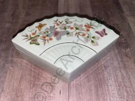 Trinket Box Butterfly Fantasy Fan Avon Products Vintage  - $26.21
