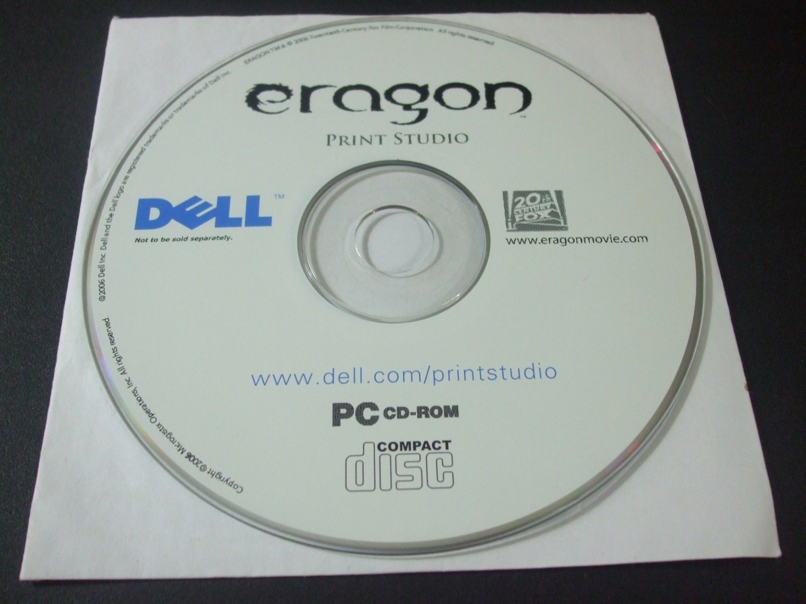 Primary image for Eragon Print Studio (PC, 2006) - Disc Only!!!