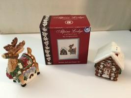Alpine Lodge  Salt & Pepper set collection  Reindeer & Loge Cabin - $12.16