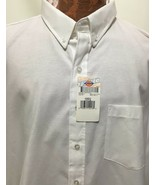 Dickies Shirt Mens 19-19.5 SS36WH Cotton/Poly Button-Down Long-Sleeve Wh... - $29.89