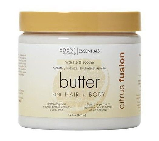 Eden Bodyworks Essentials Citrus Fusion Butter for Hair + Body 16oz