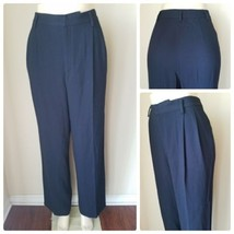 Linda Allard Ellen Tracy Women's Black Pleated Front Straight Leg Pants 10 - $16.94