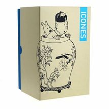 Tintin & Snowy in vase resin statue Icons collection The Blue Lotus image 4