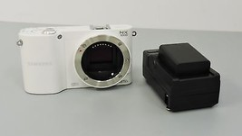 Samsung NX1000 20.3 MP Digital Camera - White (Body Only)  - $104.99