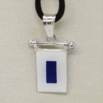 Solid 925 Sterling Silver Pendant With Nautical Flag, Letter S, Enamel, Charm - $42.75