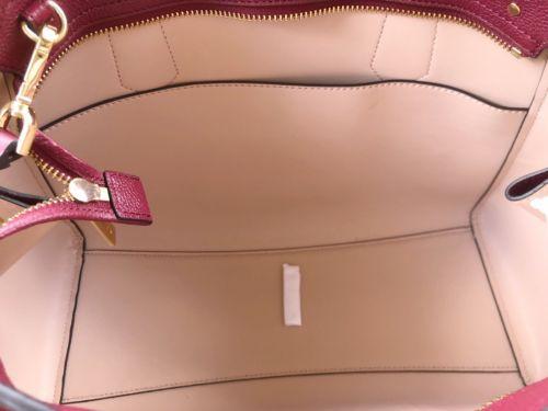 0cedc0b843fd14 Michael Kors Hayes Large Leather Satchel Bag Mulberry Burgundy Ballet Pink