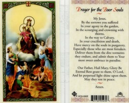 Prayer for the Poor Souls Card - EB692 - My Jesus by the Sorrows You Suf... - $2.79