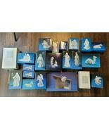 AVON PORCELAIN NATIVITY HOLY FAMILY COLLECTIBLE SET 23 PCS FLYING ANGEL - $296.99