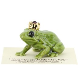 Birthstone Frog Prince February Simulated Amethyst Miniatures by Hagen-Renaker