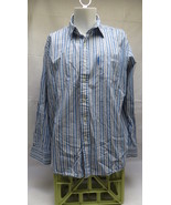 Mens U.S. Polo Assn Blue Striped Dress Shirt Size XL - $10.39