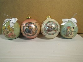 1994 & 1995 Precious Moments Christmas Ornaments Set of 4  - $12.93