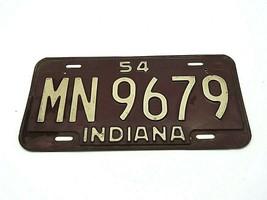 Vintage Indiana License Plate 1954 - $24.95