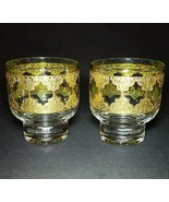 2 (Two) VTG CULVER GLASS VALENCIA Old Fashion Glasses with 24K Trim - $24.69