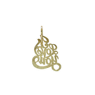 14K Yellow Gold I LOVE YOU Pendant