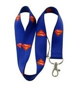 Superman Logo Print Lanyard Key Chain Id Badge Holder - $13.66