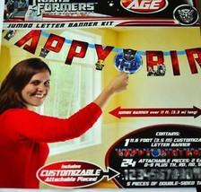 Transformers 3 Dark of The Moon Jumbo Banner Happy Birthday Supplies New - $9.85