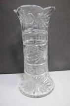 ABP cut glass vase Greek key antique - $88.48