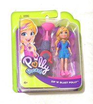 Polly Pocket Active Pose Zip 'n' Blast Zipline Adventure Polly Doll By M... - $9.38