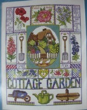Design Works Cottage Garden Sealed Counted Cross Stitch Kit 11x14 Flowers Plants - $17.95