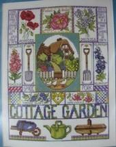 Design Works Cottage Garden Sealed Counted Cross Stitch Kit 11x14 Flower... - $17.95