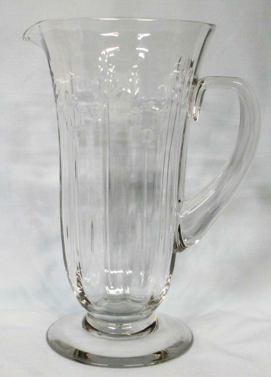 Primary image for Fostoria Crystal Kimberley Etched 775/6020 Water Iced Tea Pitcher HTF