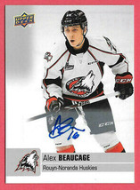 2019-20 Alex Beaucage Upper Deck CHL Rookie Auto - Colorado Avalanche - $7.59