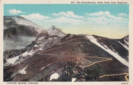 The Switchbacks Pikes Peak Auto Highway Colorado Springs CO Postcard B20 - $2.99