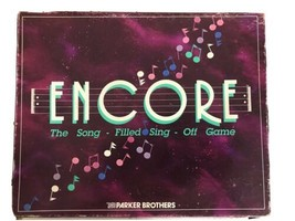 VINTAGE 1989 Parker Brothers ENCORE Song Filled Sing Off Game AA174 - $9.74