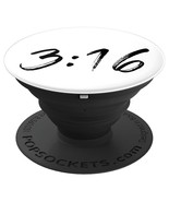 John 3:16 Minimalist Bible Quote Brush Script Lettering Grip And Stand F... - $29.99