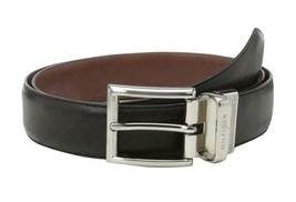 Tommy Hilfiger Men's Premium Reversible Leather Belt Black Tan 11TL08X013 image 2
