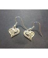 Openwork Heart Charm Earrings - $5.00