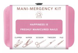 Trim Black Pink Nail Mani Emergency Grooming Kit Clippers Scissor Tweezer File image 9