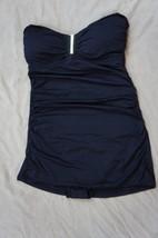 Calvin Klein Swim Swimdress Sz 10 Black Solid Strapless Swimsuit CG5MS084  - $49.44