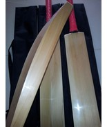 Custom Made Pure English Willow Cricket Bat Thick Edge Massive 45 mm edg... - $188.10