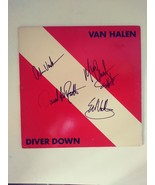 Van Halen Diver Down David Lee Roth Alex Eddie Van Halen album signed  - $349.00