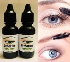 2 EyeSoFine Eyelash Eyebrow Growth Serum Thicker Longer Grow Lashes Brow... - $12.16