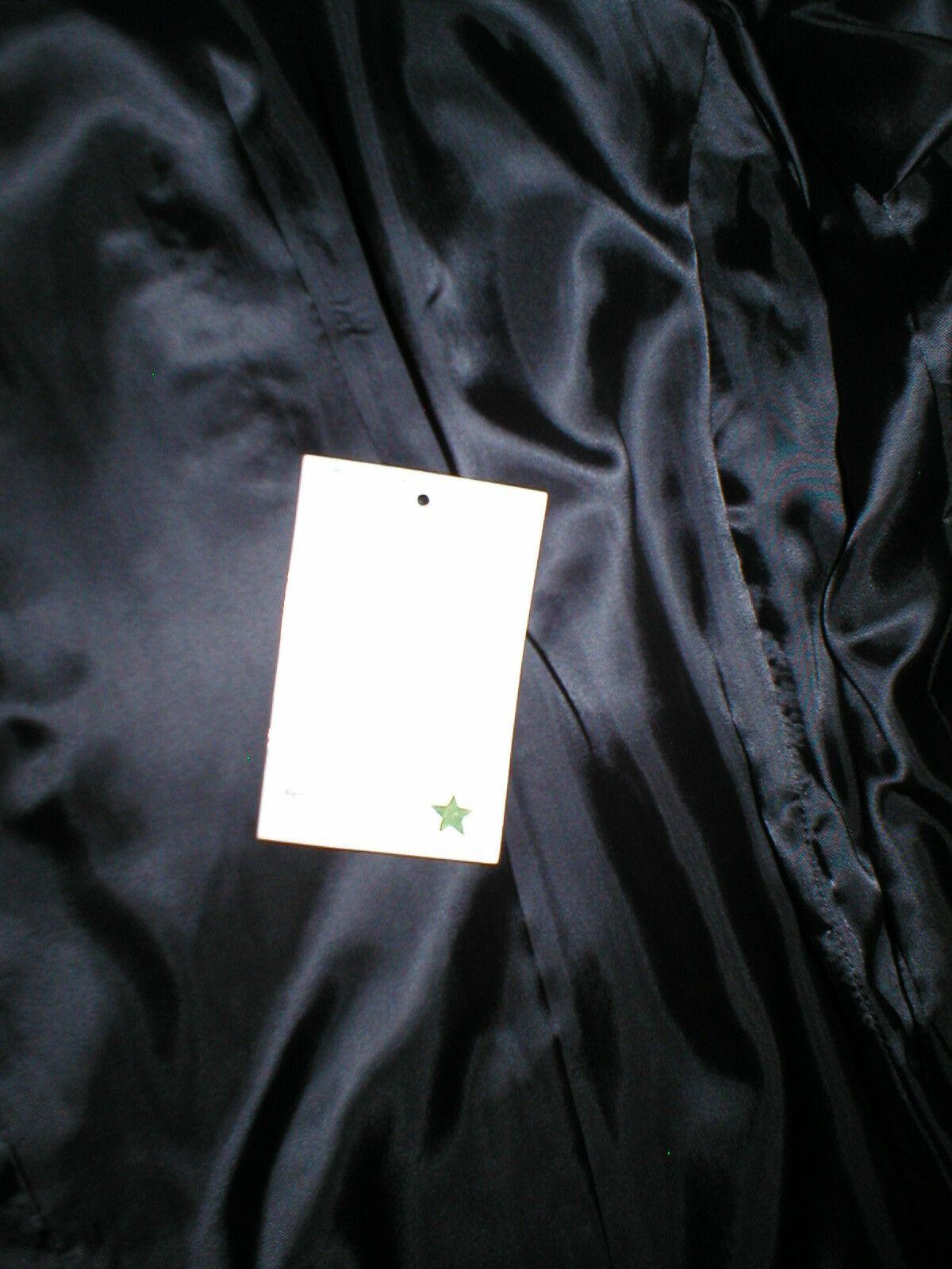 New Womens S Soft Karl Lagerfeld Paris Leather Jacket Black Silver Designer Lamb image 11