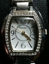 Ladies Fossil Stainless Steel Bracelet Watch ES-2023 New Battery  - $5.93