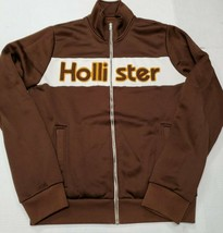 Vintage Hollister Brown Full Zip Track Jacket Sweatshirt Medium Good Con... - $44.54