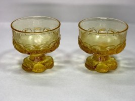 Vintage TIFFIN GLASS Franciscan Madeira Cornsilk Champagne Glasses Yello... - $36.42