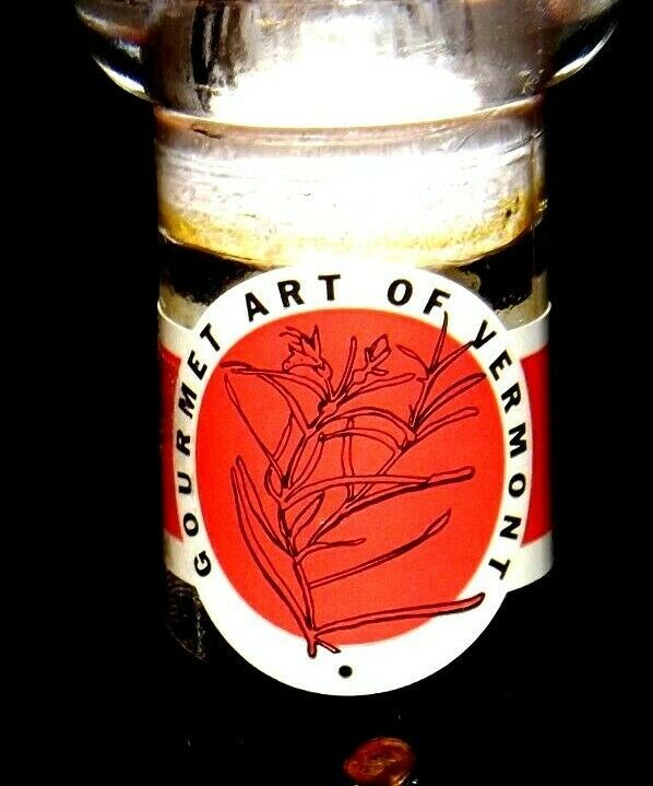 Gourmet Art of Vermont Exotic Dipping Oil in decorative blown glass container AA